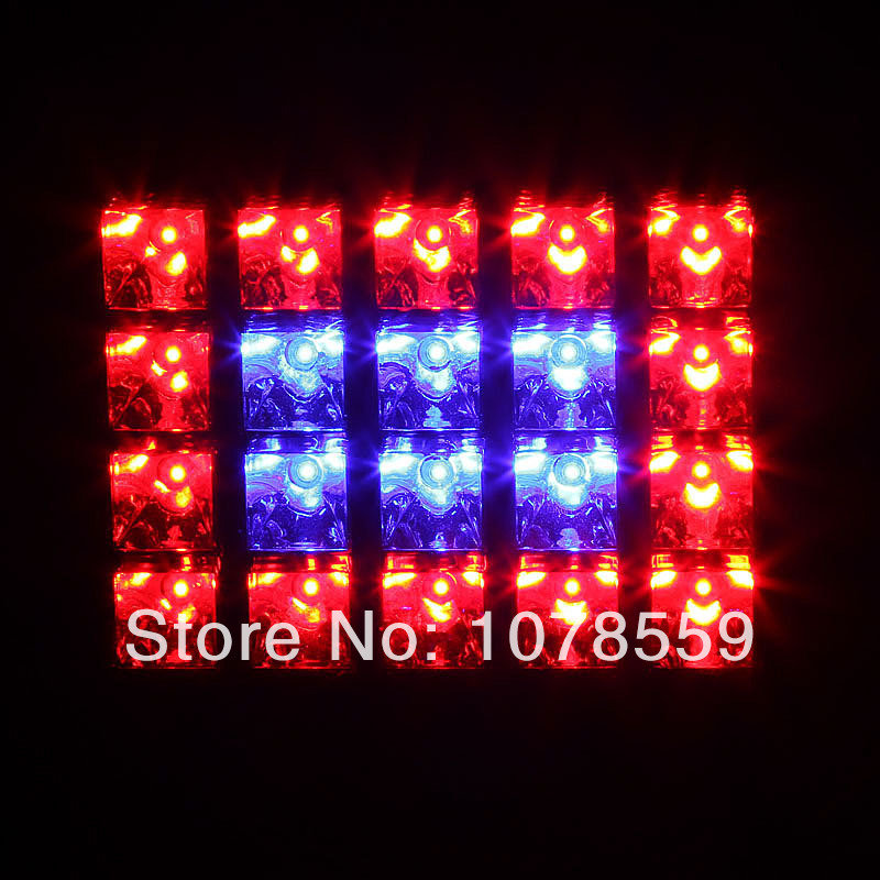 Newest Sign 60W 14Red:6Blue LED Grow Light for Indoor Plants Hydroponics Plants Super Bright Free Shipping Wholesale 85-265v led blue light man public indicating sign silver ac 85 265v
