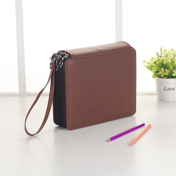 Lapiceras Estu160Pcs Pen Hole Pencil Bag Sketch Multi-functional Drawing Student Pencil Case Set Pencil Pouch Etui Pennen BD045F