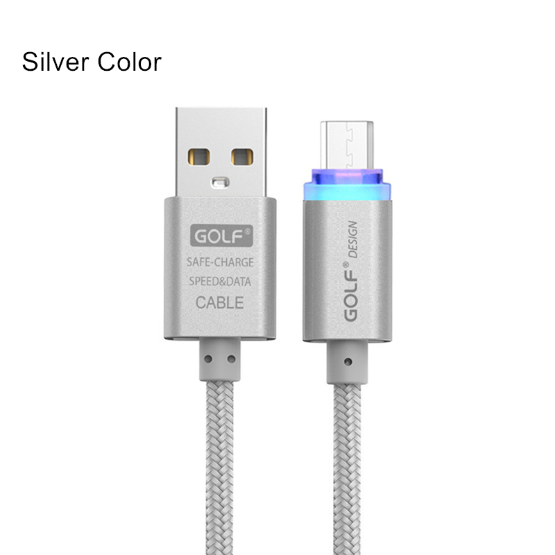 US $2 79 30% OFF GOLF Smart LED Micro USB Data Charging Cable for Huawei  Mate 8 Honor 6 Android Phone Charger Braided Cable for Samsung S7 LG V10-in