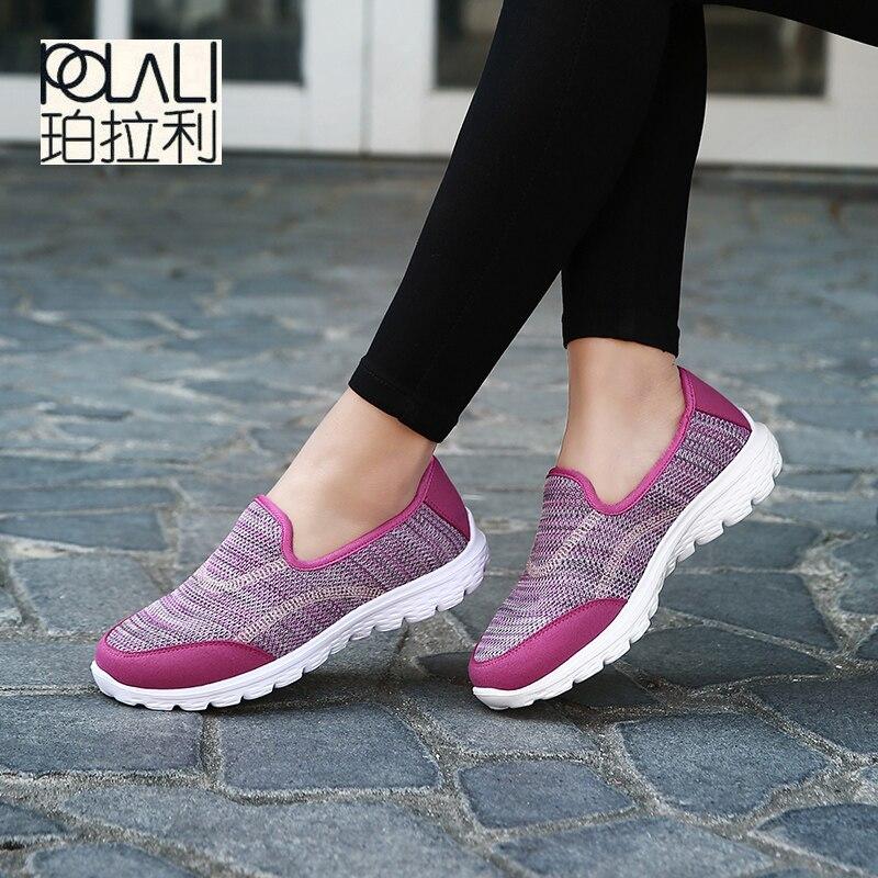 Polali 2018 De bleu Tendances Chaussures Zapatillas Noir Femme Printemps Femmes rose Été Casual Queues Mujer Mignon vert gris La Mode rouge Pour Sneakers Le Nouveau Rouge rrwXqRd
