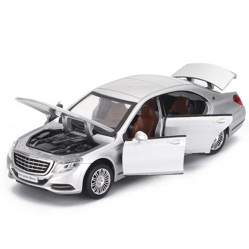 132 gl500/g65 amg/s600 simulação coupe brinquedo veículos modelo liga puxar para trás crianças brinquedos genuíno licença coleção presente crianças