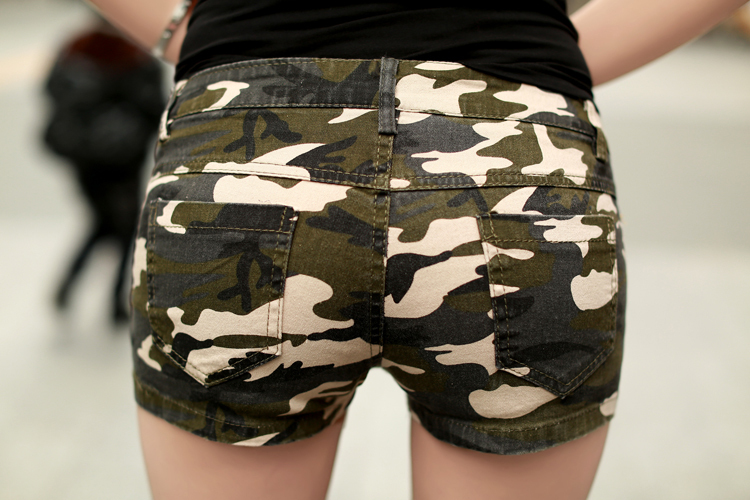 0430e8f914 Shorts women Denim shorts Outdoor camouflage shorts jeans Slim and soft pantalones  cortos mujer Fashion women camouflage shorts en Pantalones cortos de La ...