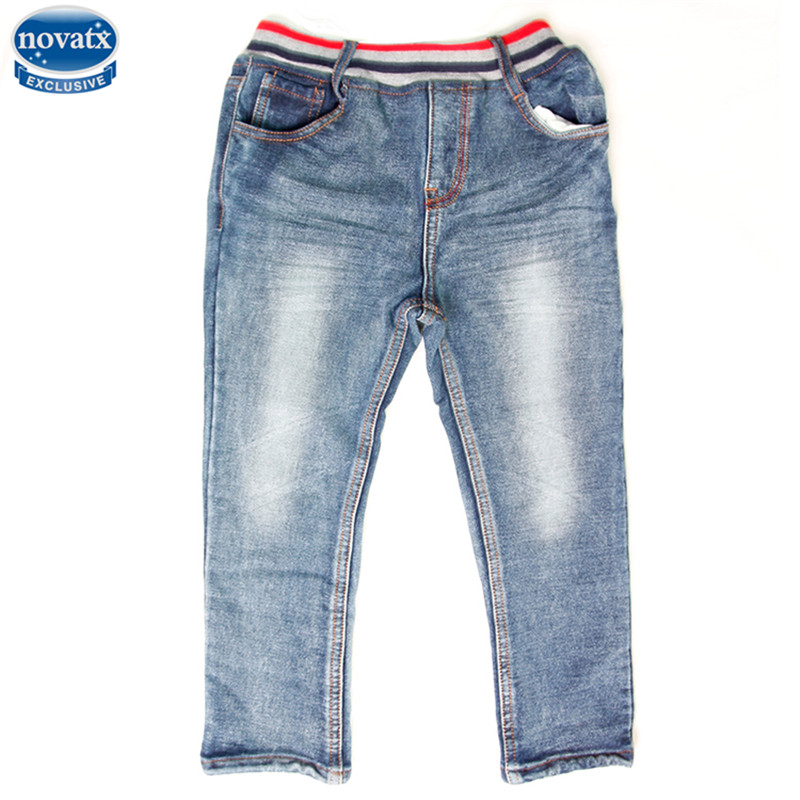 novatx B6013 boys jeans kids wear children's jeans boys high quality baby pants jeans washed kids jeans fashion designs for boy