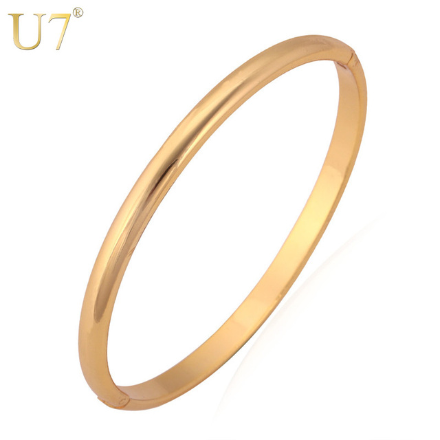 U7 Simple Style Bangle Fashion Jewelry Wholesale MenWomen Gift Rose