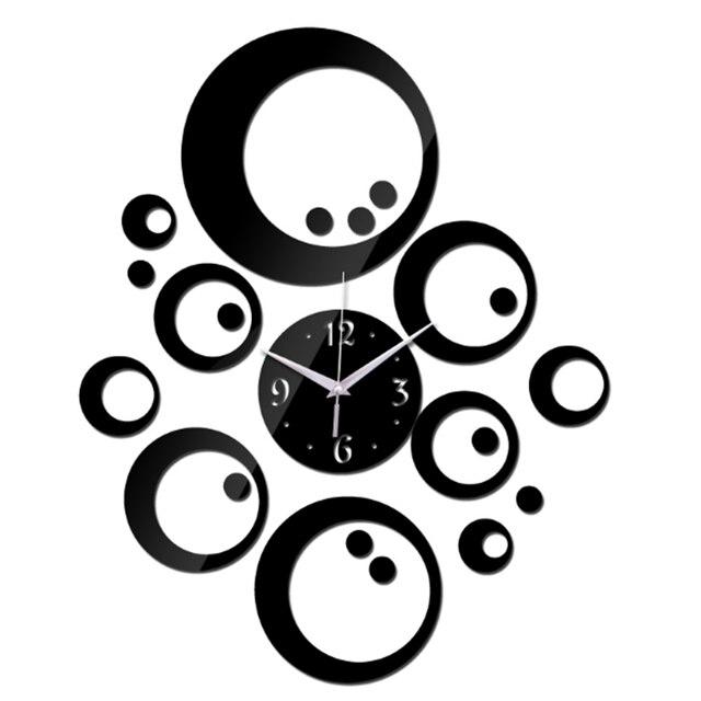 2018 new hot wall clocks europe acrylic mirror watch clocks 3d horloge reloj de pared large decorative quartz living room