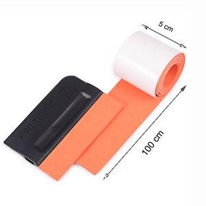 Image 2 - FOSHIO bord en tissu daim, 100CM, tissu de protection, enveloppe en vinyle en Fiber de carbone, outils de voiture