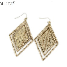 2018 New Arrive Gold Drop Earrings Alloy Earrings For Fashion Jewelry Exaggerated Earrings Jewelry Accesso For Woman Girls Party