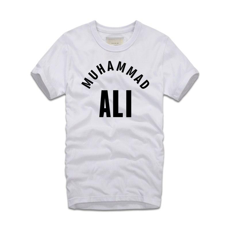 2018 년 새로운 여름 트렌드 남자 t 셔츠 무하마드 알리 남자 면화 패션 Camisetas T 셔츠 알리 기본 성인 편지 T 셔츠 인쇄