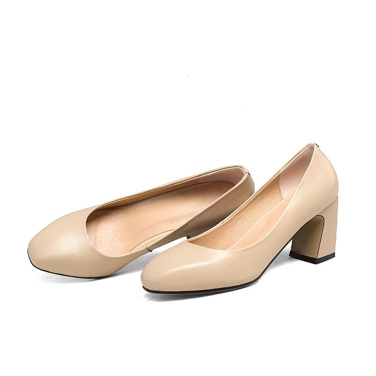 43 Talons Mljuese Chaussures Pompes Printemps Automne 34 Slip Femmes Taille 2018 apricot Sur Noir Black Couleur Hauts Femme rRWrZnqw