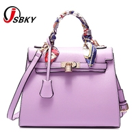 fa3ecbdfc9 brand luxury handbags women bags designer handbag with scarf lock shoulder  messenger bags 2017 fashion pink