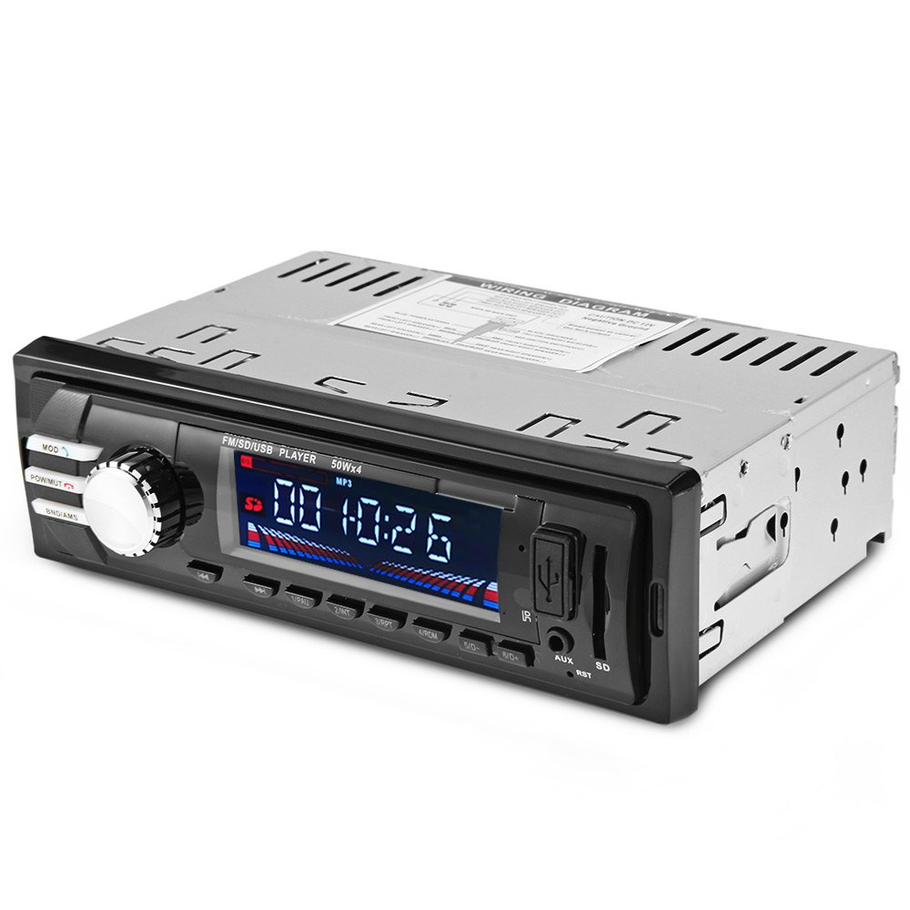 Car Radio Auto Audio Stereo with 12V Bluetooth V2.0 SD FM MP3 Player AUX USB In-Dash Handsfree Call Phone Charger Remote Control amprime car radio stereo audio mp3 player 1 din in dash digital bluetooth phone aux in mp3 fm usb sd remote control 12v input
