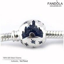 100% 925 Steling Silver Sleeping Beauty Castle European Charm Beads for Jewelry Making Fits Pandulaso CKK Diy Bracelets