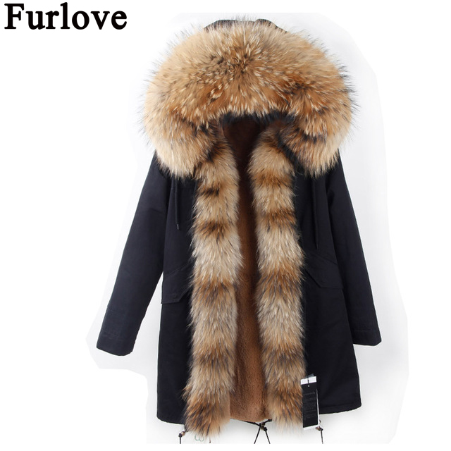 Parkas For Women Winter 2017 Army Green Parka Coat With Fur Hood Lady Russian Jacket Faux Pink Lining Warm Outerwear