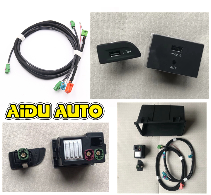 FOR Audi A3 8V MIB 2 CarPlay MDI USB AMI Install Plug Socket Switch Button Harness