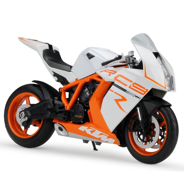 1:10 Modelo de Simulación de Modelos de Motocicletas KTM 1190 RC8 R Modelos Diecast Metal Moto Raza Miniatura Juguete De Regalo Colección