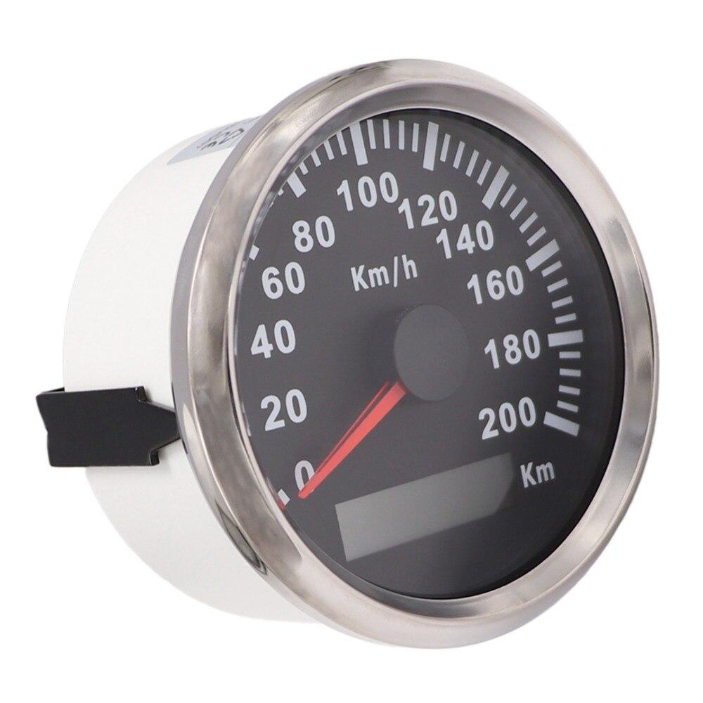 85mm Universal GPS Speedometer Waterproof 200 km h 120km h Speed Meter fit Car Motorcycle Marine