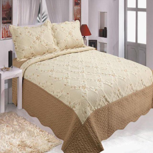 3pcs/set 100% Quilted Bedspread  Cover Set High Quality Sheet Set Single Set Pillowcase 220 * 240cm