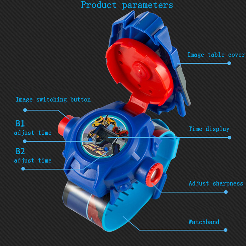 PUXU Fashion Kids 3D projeksjon Klokker Barn Elektronisk klokke - Barneklokker - Bilde 4