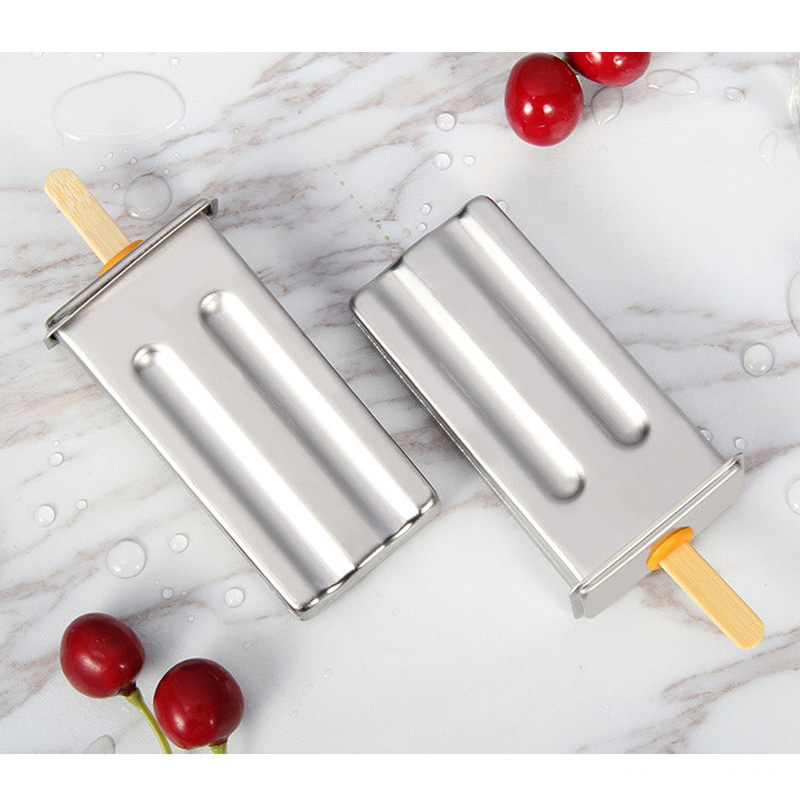 Stainless Steel DIY Ice Lolly Stick Maker Mold Ice Cream Moulds Reusable Tool GHS99