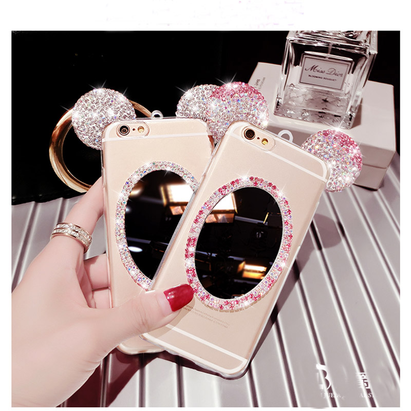 Glitter Mirror Cases For iphone X 7 8Case Sparks 6 7 6 S Plus 7 Coke For HuaWei P8 Lite Case Soft Crystal Case Cover Back