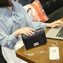 Livraison gratuite, 2017 nouvelle mode sacs à main, or chaîne messenger sac, mini tendance rabat, simple version Coréenne femmes sac.