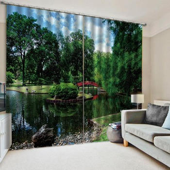 park curtains Landscape Scenery Beauty Digital Photo Printing Blackout 3D Curtains for Living Room