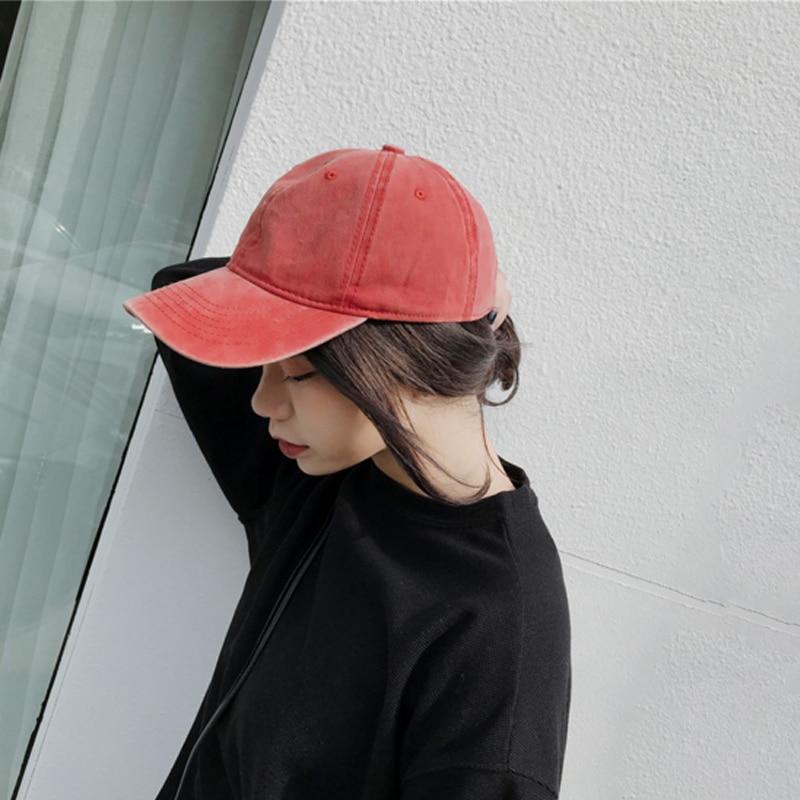 2018 Fashion   Baseball     Cap   Women Dad Hat Men Washed denim Rapper Hip Hop   Caps   Casual Women Wed Cotton Unisex Hats bone gorras