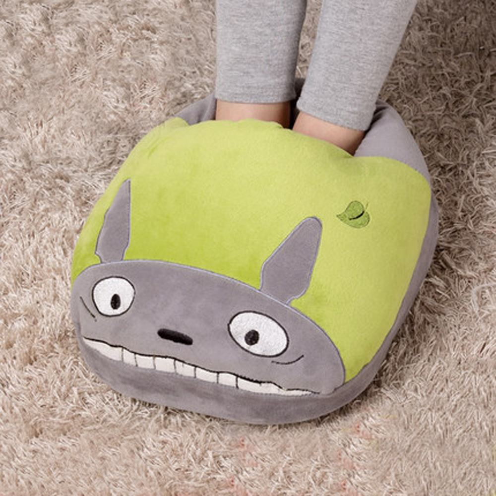 Cartoon warm feet pad inserted electric heating shoes feet heating pad electric warm foot cushion pillow washable