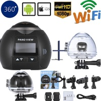 Car DVR Mini Video Camera Wifi Panoramic Waterproof Camera Ultra HD Panorama Camera 360 Degree Sport Action Camera VR