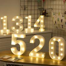 Забавный пластиковый светодиодный ночник 0 9 с буквами креативный