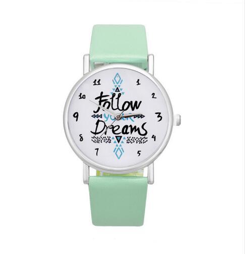2019 Follow Your Dreams Fashion Quartz Watch Women Watches Ladies Girls Famous Brand Wrist Watch Female Clock Montre Femme