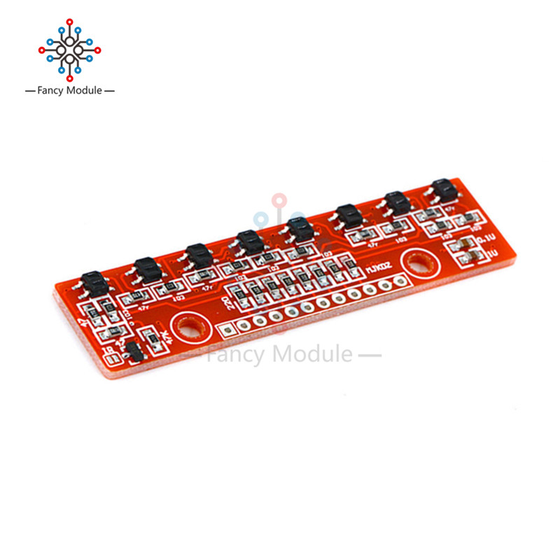 цена на Tracking Module Infrared Detection Sensor Module DIY For Arduino 8-Channel Infrared Detector Hunt Module 8bit Sensor Module