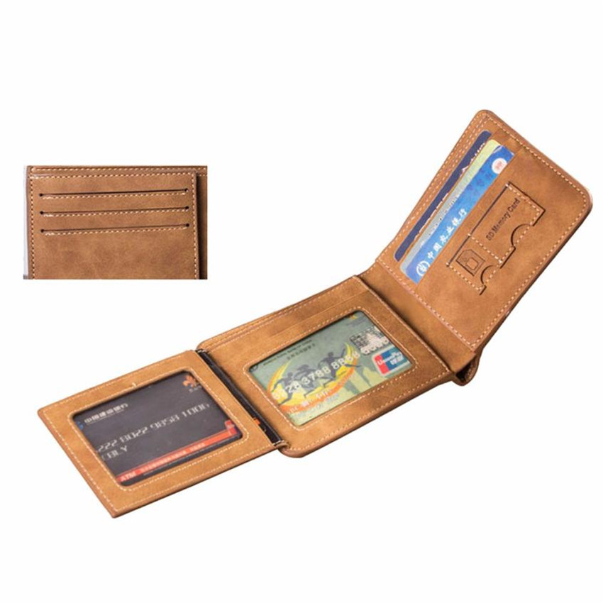 MOLAVE Wallets Wallet Male Solid CardHolder Short Men Leather ID credit CardHolder Clutch Coin PUrse Wallet Wallets May25