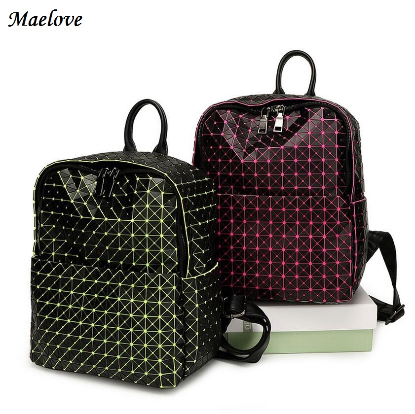Maelove New Vintage 2017 Women bag Backpack Geometric backpack Student s school bag Free Shipping famous