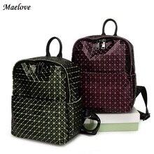 Maelove новый урожай 2017 женщин-сумка рюкзак геометрический рюкзак студента школьная сумка Бесплатная доставка знаменитый логотип сумка