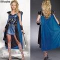 TITIVATE Mujeres Sexy Griego Gladiador Romano Spartan Warrior Princess juegos de Rol Partido Diosa Disfraz de Cosplay de Halloween