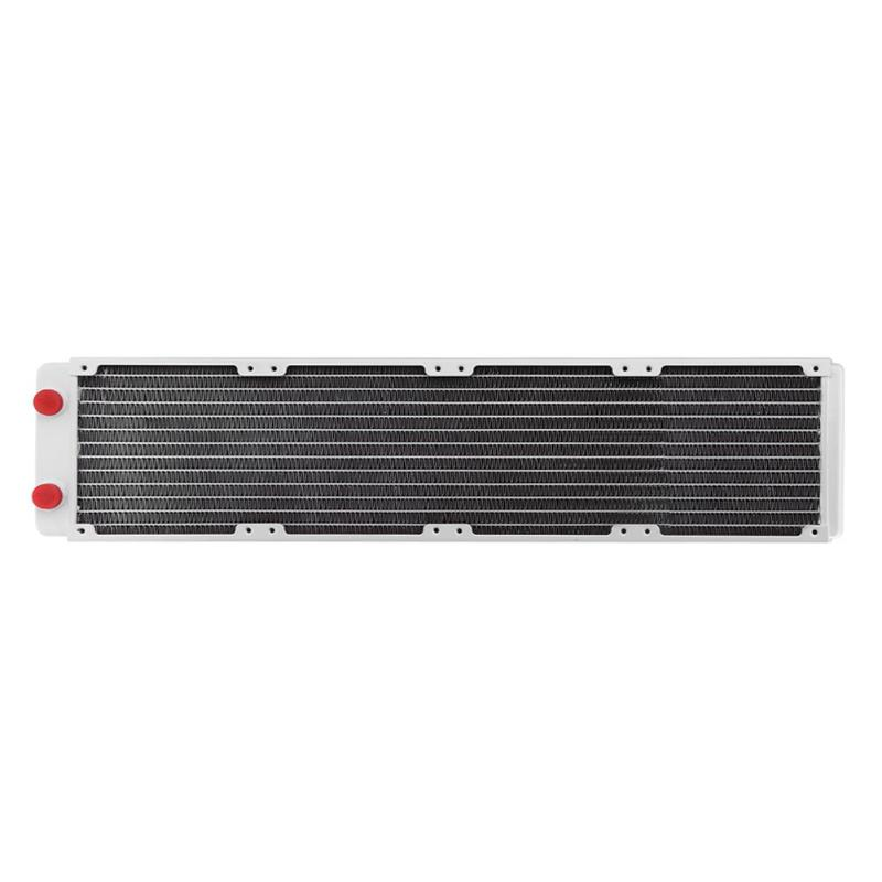 ALLOYSEED VWhite 480mm Computer Water Discharge Liquid Heat Radiator With G1/4 Thread Mouth For PC Water Cooling SystemALLOYSEED VWhite 480mm Computer Water Discharge Liquid Heat Radiator With G1/4 Thread Mouth For PC Water Cooling System