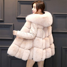 Creative Faux Fox Fur Bomber Hoodie Coat Vest PU stitching jacket Detachable Sleeves Faux Leather Warm Long Hooded Cardigan Hot