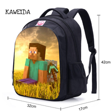 ФОТО student minecraft cartoon backpack children teengers school bag hot game character primary kids bagpack schoolbag for boys girls
