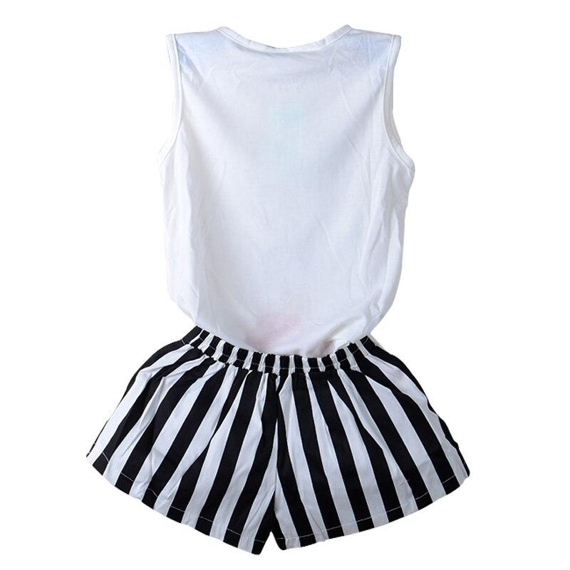 2018 New Fashion Girl Clothes Cat Shirt +Pant 2pcs Childrens Suits Clothing Set Girls Set Girls Suit Childrens Clothing
