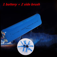 1 14 8V 2800mAh 18650 Lithium Ion Battery 2 Side Brush Replacement Philips Robot Vacuum Cleaner