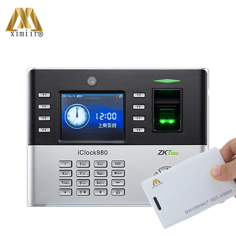 Iclock980 Fingerprint Time Attendance And Door Access Control System With 125KHz RFID Card Smart Time Clock