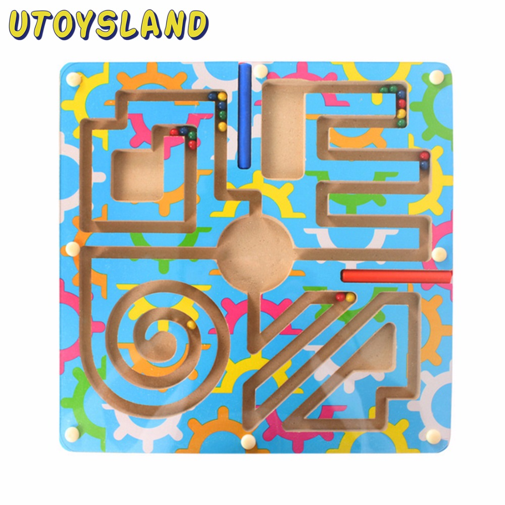 UTOYSLAND Magnetic Wand Marbles Labyrinth Camouflage Maze Educational Kids Wooden Parenting Family Game Toys for Children cool educational toys dump monkey falling monkeys board game kids birthday gifts family interaction board game toys for children