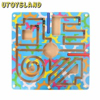 UTOYSLAND Magnetic Wand Marbles Labyrinth Camouflage Maze Educational Kids Wooden Parenting Family Game Toys for Children