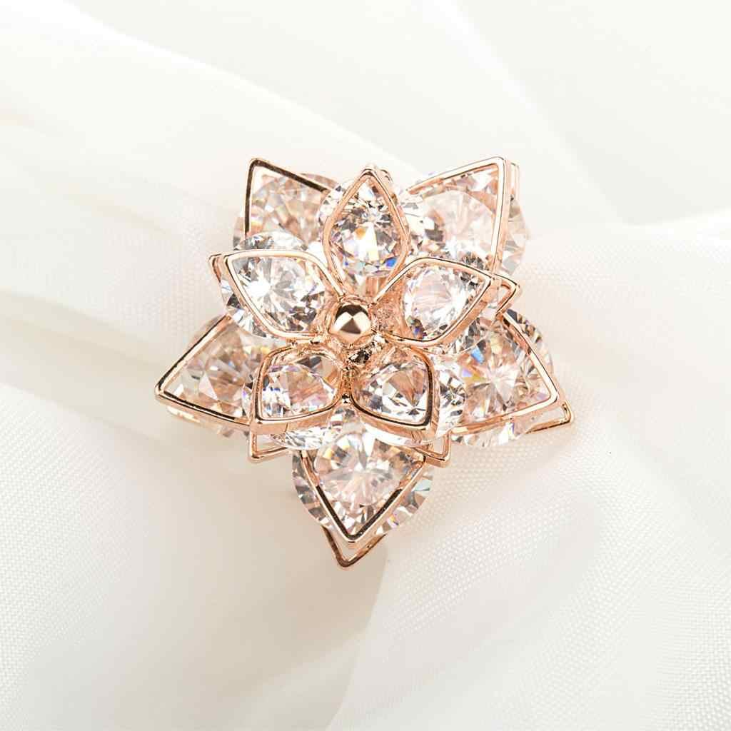 Jiayiqi ใหม่ยี่ห้อ Rose Gold สีแหวนแฟชั่นผู้หญิงที่ดีที่สุดคุณภาพผู้หญิงฤดูร้อนแหวน Zircon แหวนเครื่องประดับ 2017