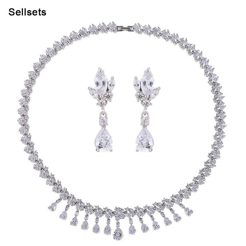 Sellsets date dames bijoux mode CZ bijoux ensemble pour femmes accessoires de mariée