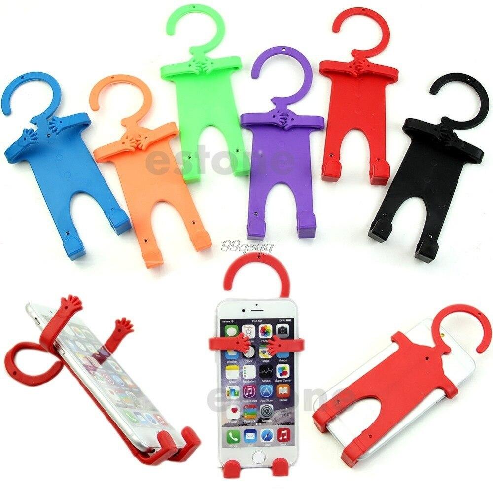 Гибкая силиконовая сотовый телефон владельца автомобиля домашней мобильной вешалка держатель для смартфона груза падения