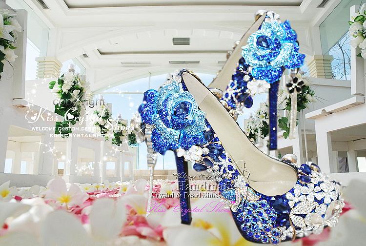 синий Уэйд обувь новые туфли индивидуальные Devil гр rustle Королев высокий кабель синий свадебные туфли на высоком bloke платье обувь