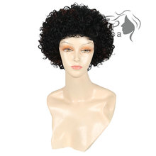 Medusa hair products: Synthetic african american wigs for women Modern shag styles short curly Mix color Afro pastel wig SW0111