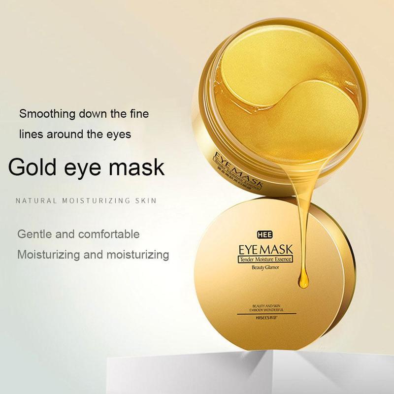60 pçs ouro/algas colágeno máscara de olho rosto anti rugas gel sono máscara de ouro remendos de olho colágeno hidratante máscara de olho cuidados com os olhos 5